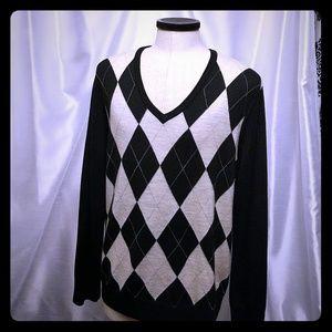 Express Merino wool Argyle men's sweater XL
